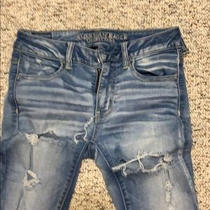 American Eagle outfitters jegging distressed six 4